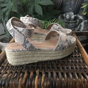 Chinese Laundry Zara Wedge Sandal snakeskin